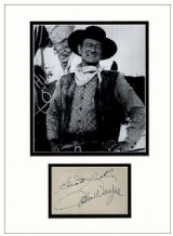 John Wayne Autograph Display